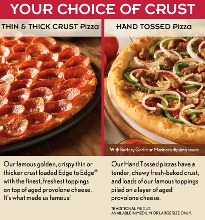 Donatos Pizza Menu - Pizzas, Subs, Salads